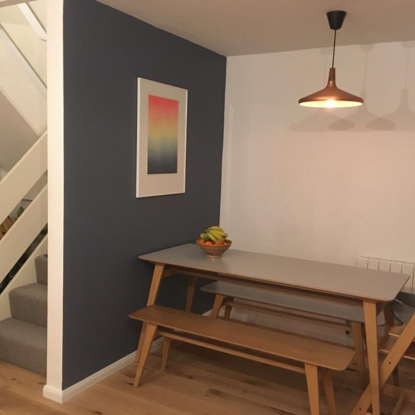 Blue feature wall_Nesting properties_mid century modern kitchen