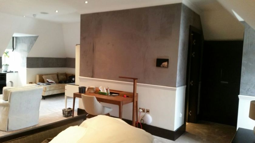 Grey Suede wall-high end decorators-north london interior designer-nesting properties-high net worth interior designer