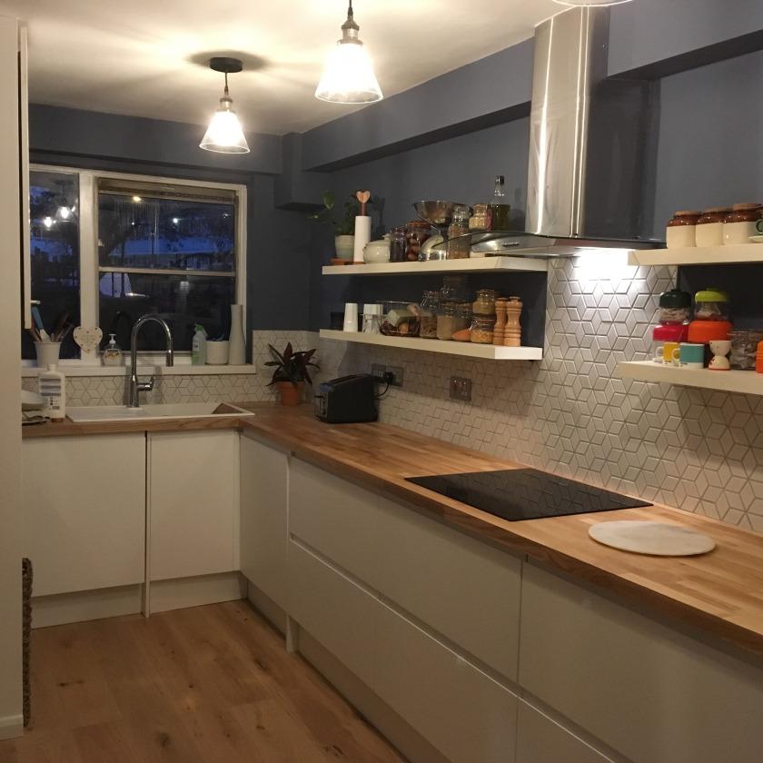 hexagonal kitchen tiles_modern kitchen_kitchen renovation_nesting properties